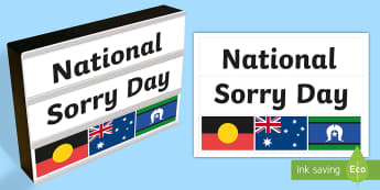 National Sorry Day Light Box Inserts - Australia, EYLF, light box, display, national sorry day, aboriginal, torres straight, cultural, aust