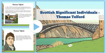 Scottish Significant Individuals Thomas Telford PowerPoint - scottish, significant individuals, thomas telford