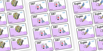 Purple Themed Editable Book Labels - Themed Book label, label, subject labels, exercise book, workbook labels, textbook labels