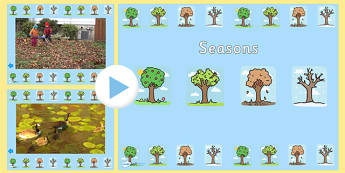 Seasons Video PowerPoint - seasons, seasons powerpoint, seasons videos, videos of the seasons, seasons interactive powerpoint, powerpoint, video powerpoint
