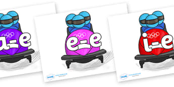 Modifying E Letters on Bobsleigh - Modifying E, letters, modify, Phase 5, Phase five, alternative spellings for phonemes, DfES letters and Sounds