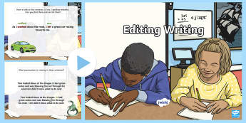 Editing Writing PowerPoint - Editing, Writing, Writing Process, Revision, Punctuation, Final Draft, Publishing