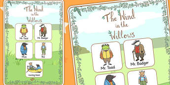 The Wind in the Willows Vocabulary Poster - posters, displays