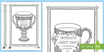 Father's Day Mindfulness Colouring Pages - English/Greek - Mindfulness Colouring, father's day, family, dad,EAL, Greek, greek