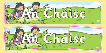 An Cháisc Easter Display Banner Irish Gaeilge - gaeilge, An Cháisc, easter, display banner, display, banner