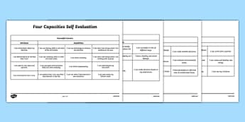Curriculum for Excellence 4 Capacities Self Evaluation - ks2, maths, amount, quantitiy, self-assess, assessment, scotland, numeracy