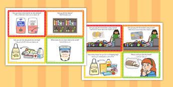 Supermarket Role Play Challenge Cards Arabic Translation - arabic