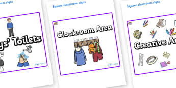 Oyster Themed Editable Square Classroom Area Signs (Plain) - Themed Classroom Area Signs, KS1, Banner, Foundation Stage Area Signs, Classroom labels, Area labels, Area Signs, Classroom Areas, Poster, Display, Areas