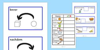 Before and After Fruit Salad Recipe German - german, preposition, position, SEN