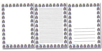 Shining Lighthouse Portrait Page Borders- Portrait Page Borders - Page border, border, writing template, writing aid, writing frame, a4 border, template, templates, landscape