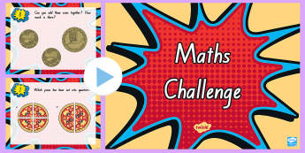 Maths Challenge PowerPoint - Year 1 Maths Challenge PowerPoint - numeracy, numeracy challenge, challange, numracy, matsh, pp, ppt