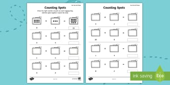 Up, Up and Away! Counting Spots Activity Sheet - ROI, Exploring our world, aistear, story worksheet, counting, number, worksheet, holiday, travel, ae