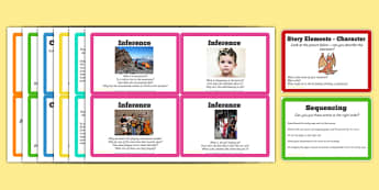 Reading Task Cards - guided, reading, skills, cards
