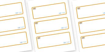 Jaguar Themed Editable Drawer-Peg-Name Labels (Blank) - Themed Classroom Label Templates, Resource Labels, Name Labels, Editable Labels, Drawer Labels, Coat Peg Labels, Peg Label, KS1 Labels, Foundation Labels, Foundation Stage Labels, Teaching Label