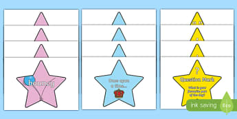 Vocab Openers Punctuation on Stars Pack - vocab, openers, punctuation, stars, display, signs, posters, writing, pack