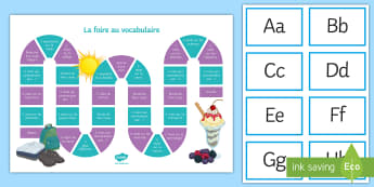 End-of-Year Vocabulary Revision Board Game English - KS3, KS4, French, Fun, Revise, themes, play,French