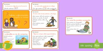 Tarjetas de trivial: Inferir información - inferir, información, inferencias, inferencia, lectura, leer, lee, NEE, autismo, tarjetas, trivial,