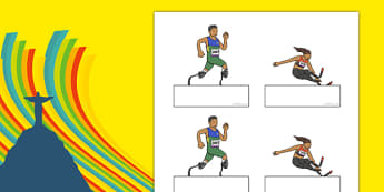 The Paralympic Events Athletics Self Registration - Athletics, athlete, running, Paralympics, sports, wheelchair, visually impaired, Self registration, register, editable, labels, registration, child name label, printable labels, 2012, London, Olympi