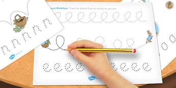 The Tale of Peter Rabbit Pencil Control Sheets - pencil control