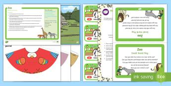 Zoo Small World Play Idea and Printable Resource Pack - animals, safari park, tuff spot, tuff tray, tough spot, sensory play