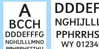 Doctor's Surgery Eye Chart Welsh - welsh, cymraeg, Doctors surgery role play, doctor, nurse, surgery, role play, doctors role play, people who help us role play, people who help us, Eye chart display