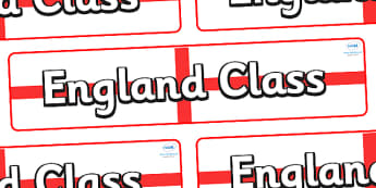 England Themed Classroom Display Banner - Themed banner, banner, display banner, Classroom labels, Area labels, Poster, Display, Areas