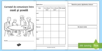 Carnețel de comunicare Casă-Școală - început de an școlar, comunicarea cu părinții, mesaje pentru părinți, management comportamenta
