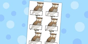 Owl Self Registration - owl, self-registration, bird, class, sign, self-reg