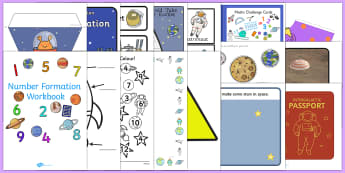 KS1 Top Ten Space  Activity Pack - Space, outer space, astronauts, planets, earth, solar system