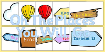 Oh The Places You Will Go Classroom Door Display Pack - display pack