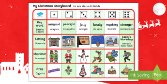 Christmas Story Writing Activity English/Italian - Christmas Story Writing Activity - christmas, xmas, santa, christmas story, story, Jesus, writing ac