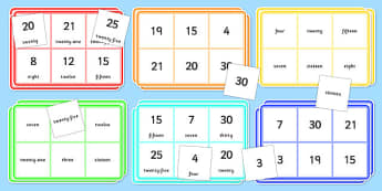 0-30 Bingo and Lotto Game - 0-30, bingo, lotto, game, activity