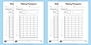 Making Pictograms Templates - making pictograms, make, pictogram, maths, numeracy, ks2