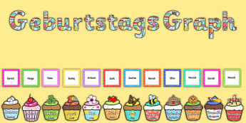 Geburtstags Graph Birthday Graph Display Pack German - german, birthday, graph, display pack, pack