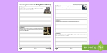 Britain's Seaside: Whitby Activity Sheet  - Coasts, management, erosion, transportation, deposition, waves, tourism. worksheet
