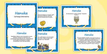 Hanuka - Cartonașe informative