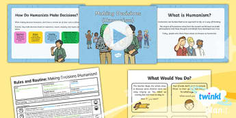 PlanIt - RE Year 2 - Lesson 6: Humanism Lesson Pack - RE, Rules and Routines, humanism, decisions