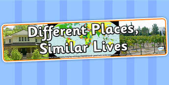 Different Places Similar Lives Photo Display Banner - IPC