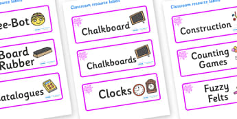 Pink Themed Editable Additional Classroom Resource Labels - Themed Label template, Resource Label, Name Labels, Editable Labels, Drawer Labels, KS1 Labels, Foundation Labels, Foundation Stage Labels, Teaching Labels, Resource Labels, Tray Labels, Pri