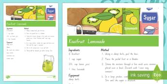 Treaty treats Kiwifruit lemonade Recipe - Waitangi Day, Treaty of Waitangi, tiriti o waitangi, kiwi, kiwiana, recipes