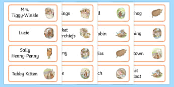 The Tale of Mrs Tiggy Winkle Word Cards - mrs tiggy winkle, word cards