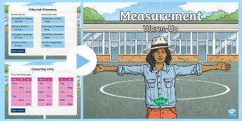 Y6 Measurement Warm-Up PowerPoint - KS2 Maths warm up powerpoints, warm up, warm-up, warmup, starter, mental starters, Y6, maths, units,