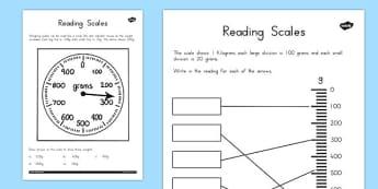 Reading Scales Worksheets - australia, reading, scales, worksheet
