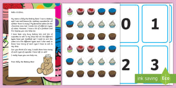 Sorting and Counting Cupcakes Resource Pack - EYFS, Early Years, Mathematics, Maths,  40-60, Selects The Correct Numeral To Represent 1 To 5, Then