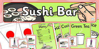 Sushi Bar Role Play Pack - sushi bar,  role play, role play pack, resource pack, role play badges, role play banner, role play display photos, pack