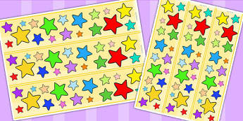 Multi Coloured Star Display Borders - stars, star display, border