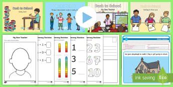 Back to School Early Level Resource Pack - new class, back to school, first days at school, getting to know you, primary one, Scottish