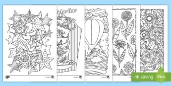 Pachet de Pagini de colorat mindfulness - motricitate fină, arte, colorat, desene, română, activități, jocuri,Romanian