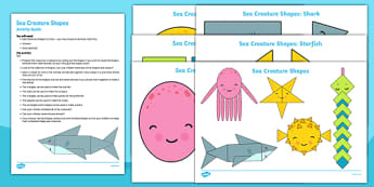 Sea Creature Shapes Busy Bag Resource Pack for Parents