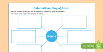 Peace Writing Activity Sheet-Irish, worksheet